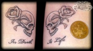 Small skulls by state-of-art-tattoo