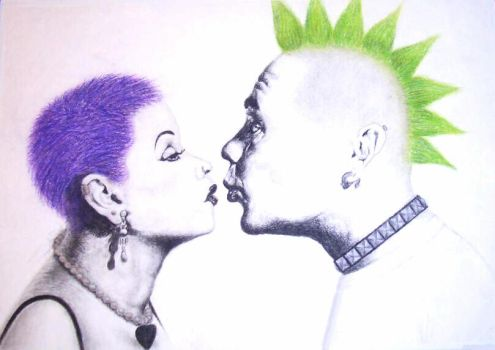 Lucy and Ricky: Punk Love by spaceysarah