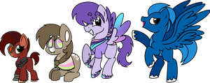 .::Non-Ponies as Ponies::. Set 1 by FrozenStar37615