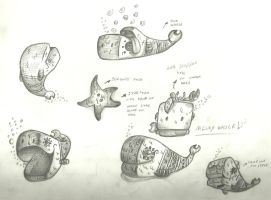 Milky-Whale Sketches by A-Leap-Of-Faith