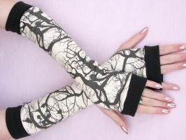 Poe Raven Arm Warmers by sew4fun114