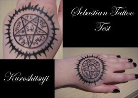 Sebastian Tattoo Test by LacedThanatos