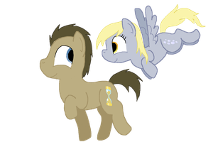 Whooves and Derpy by Braang