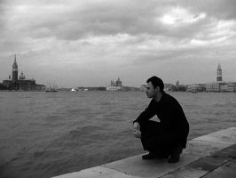 Venice Me dressed in black by emalterre
