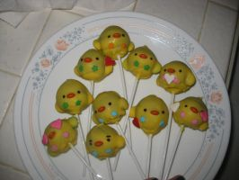 Chick CakePops by rltan888