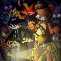 FNAF EP Cover Art by Grimmstein