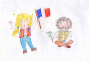 Les Miserables - Enjolras and Grantaire by MrsLovett22