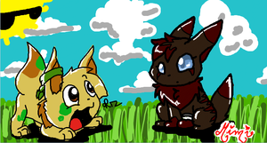 iScribble Dust and Miranda by MimiTheFox