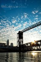Cleveland Cuyahoga Sunrise by shaguar0508