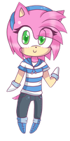 Chibi Amy Rose. :3 by Naruto-awesome