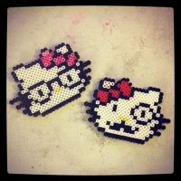 Hello Kitty coaster dual set by soldierofsolace
