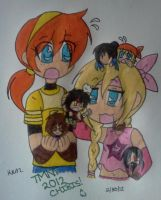 April, Emily, and Chibis by Nicktoons4ever