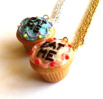 Eat Me Cupcake Necklace by FatallyFeminine