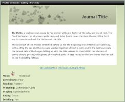 Leafy Green Journal CSS by jimmy-tm