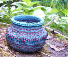 Alaska Earthen Vase Basket by alaskabaskets
