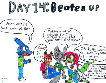 Day 14: Beaten Up by MC4E84
