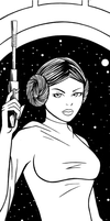 Princess Leia Art Inks by RichBernatovech