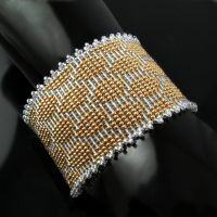 Bead loomed cuff - The Snake Charmer by CatsWire