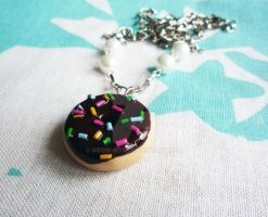 Donut n Sprinkles Necklace by Meow-Box