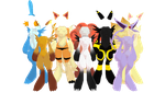 Pokemon Bases Done... All 8 by Kasha-Hanyou1