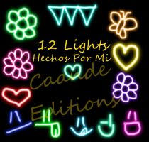 12 Lights PNG Hechos X Mi ^^ by CandePhotoScape