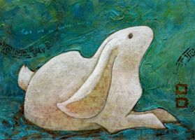Verdigris Rabbit by ursulav