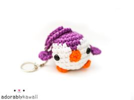 purple mini penguin keychain 2 by adorablykawaii