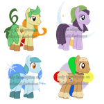 Eeveelution inspired MLP Adopts 1 by SummersWorld