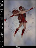 LadyBug Faerie 004 by poserfan-stock