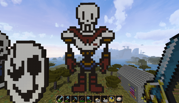 Minecraft Art - The Great Papyrus by Blake290383