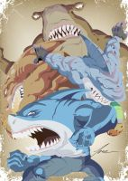 Street Sharks by avilamonkey