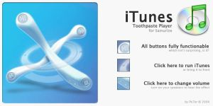 iTunes Toothpaste Player by Pe7er