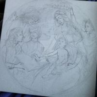 Sketch to copy of Botticelli painting by hagi26