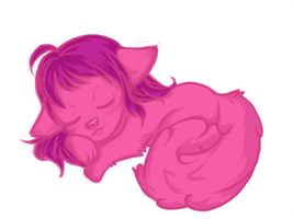 Sleeping Ball of Fluff by Devangelic