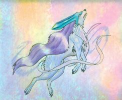 suicune wolf by Monodog22