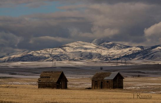 Two Barns and a Mountain  by TRunna