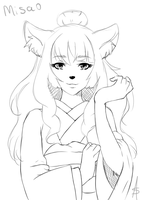 Sketch Commission - Misao by Line-arts
