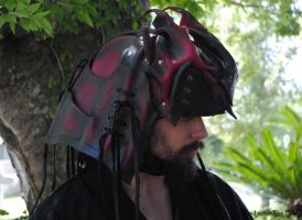 Demon Shogun Helm by Epic-Leather