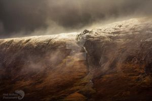 Stormy mountain by AngiWallace