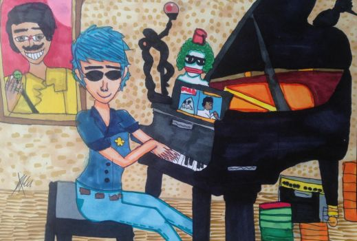 2-D playing piano of Sleeping Powder by FabianArtist