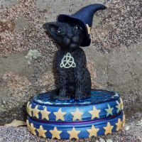 Halloween Black Cat Keepsake Tin by CreativeCritters