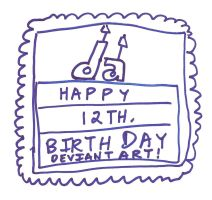 DeviantART 12th. Birthday Card by dth1971