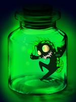 Angleroro trapped in a bottle by TaiitheDecepticaon