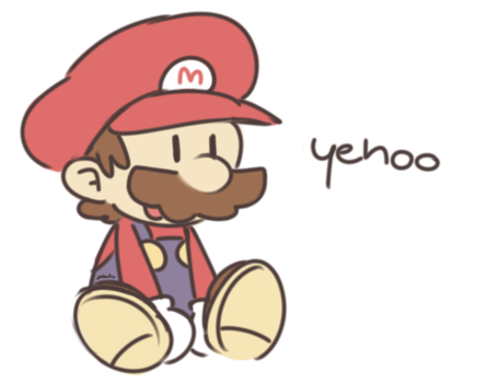 i've never drawn paper mario before by Dededes
