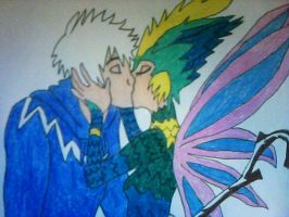 Jack Frost and Toothiana's Kiss by Kailie2122