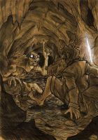 THE HOBBIT by Denis Medri - Gollum by DenisM79
