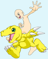 Agumon and you base by HeroHeart001