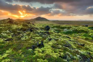Lava Field Sunset by cwaddell