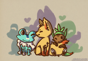 XY Starters by ZombieMonsters