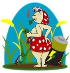 Spotty Red BubbleButt by Sageroot